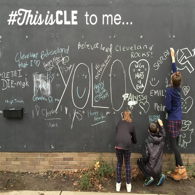 #ThisIsCle - Chalk Wall in Downtown Cleveland