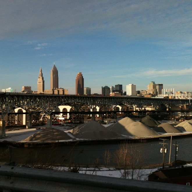 View of Cleveland Skyline from Tremont Townhome!