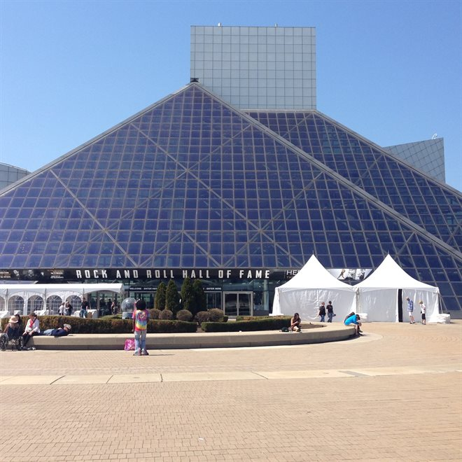 The Rock and Roll Hall of Fame, Cleveland OH