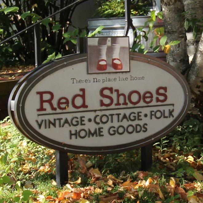 Red Shoes Store Sign