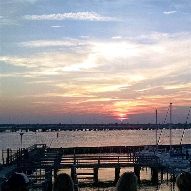 Sunset at the Deadrise Marina