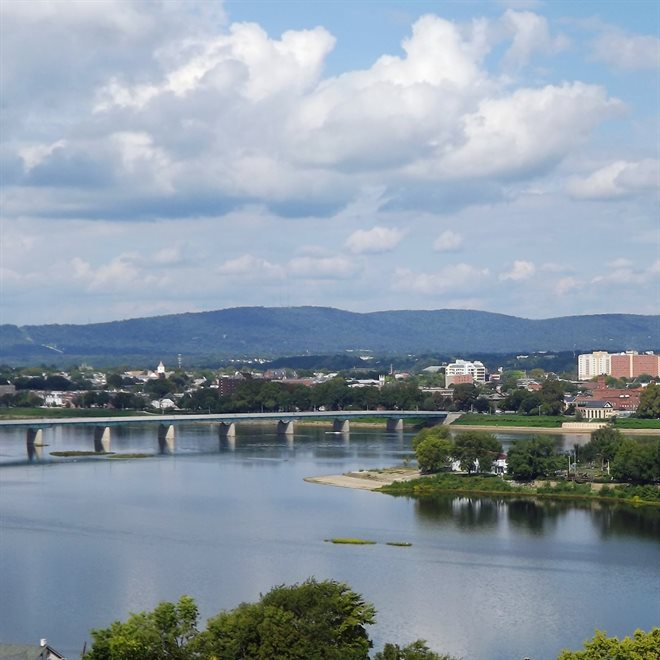 View of Mountains Surrounding Harrisburg, PA