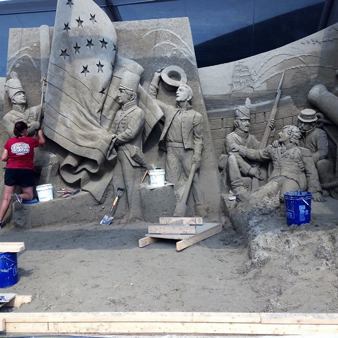 Sand Sculpture at Point State Park