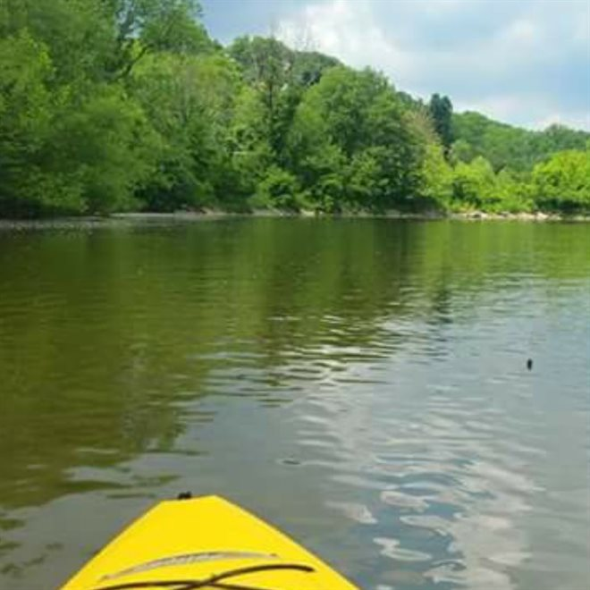 Kayaking on the Vermilion River