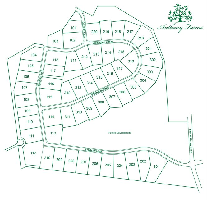 Anthony Farms Site Plan